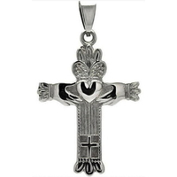 Croix Buffy symbole Claddagh en acier inoxydable