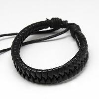 Bracelet Hank Moody en cuir noir vu dans la serie Californication