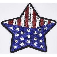 Ecusson drapeau américain avec paillettes