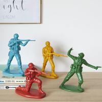Serre livres figurines decoratives petits soldats
