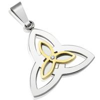 Collier Charmed symbole triquetra en acier inoxydable