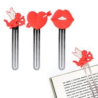 Set de 3 marque-pages pour livres romantiques