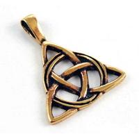 Collier Charmed symbole triquetra en bronze