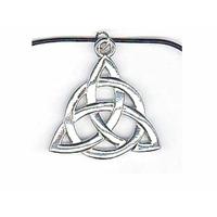 Collier Charmed symbole des 3 soeurs en étain avec cordon cuir