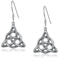 Boucles d'oreilles Charmed symbole des 3 soeurs en étain