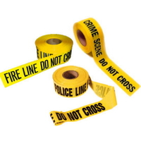 Lot de 3 Bandes jaunes scene de crime Fire Line et police line do not cross