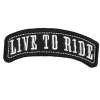 Ecusson brodé biker Live to ride