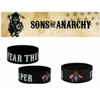 Bracelet officiel Sons of Anarchy en silicone modèle fear the reaper