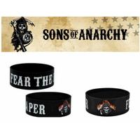 Bracelet officiel Sons of Anarchy en silicone modèle fear the reaper