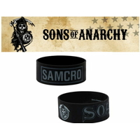 Bracelet officiel Sons of Anarchy en silicone modèle Samcro