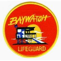 Ecusson Alerte à Malibu comme vu sur les maillots des sauveteurs