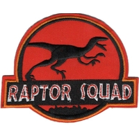 Ecusson brodé de la raptor squad  Jurassic World cosplay jurassic park