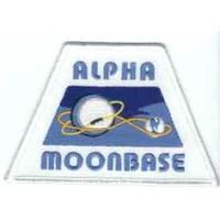 Ecusson logo de la base Alpha dans la serie Cosmos 1999