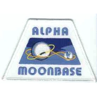 Cosmos 1999 ecusson logo base lunaire Alpha