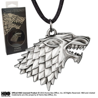 Pendentif officiel Game of Thrones embleme maison Stark