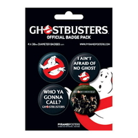 Blister officiel de 4 badges Ghostbusters