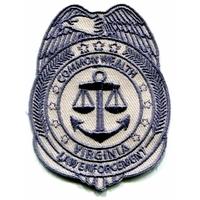 Ecusson the Walking Dead Police Etat de Virginie de Rick Grimes