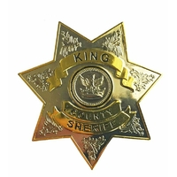 Badge Walking Dead insigne de sheriff King County de Rick Grimes