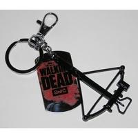 Porte cles The Walking dead arbalette Daryl et logo TWD