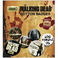Blister 6 badges officiels The walking Dead