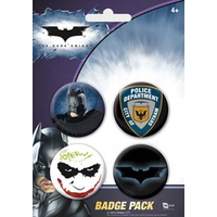 Blister 4 badges officiels Batman the Dark knight
