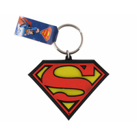Porte cles officiel logo Superman en pvc