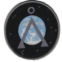 Ecusson symbole terre de l'equipe SG1 vu dans Stargate dans les dernières saisons