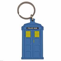 Porte cles tardis police box Doctor Who en pvc