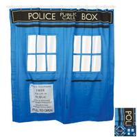 Rideau de douche Tardis police box comme dans Doctor Who
