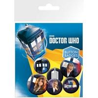 Blister 6 badges officiels Doctor Who