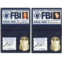Lot Badges agents du FBI Mulder et Scully série X-Files