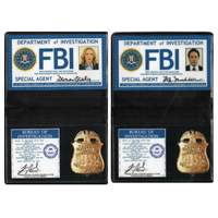 X-Files Lot Badges FBI Mulder et Scully