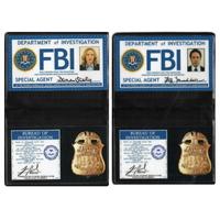 Lot Badge Mulder et Badge Scully de la série X-Files