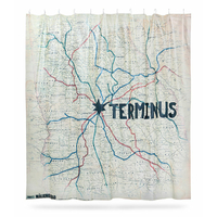Rideau de douche The Walking Dead carte pour Terminus