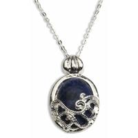 Collier Vampire Diaries pendentif lapis lazuli de protection