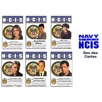 Lot de 6 cartes d'identification des agents du NCIS