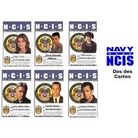 Lot de 6 cartes d'identification des agents du NCIS