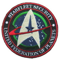 Ecusson Star trek Starfleet Security United federation of planets