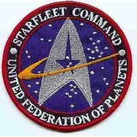 Ecusson Star trek Starfleet Command United federation of planets