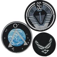 Stargate lot de 3 ecussons de l'equipe SG1 (premières saisons de la serie)