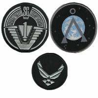 Stargate lot de 3 ecussons de l'equipe SG1 (dernières saisons de la serie)