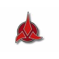 Ecusson Star Trek logo guerrier Klingon grand format