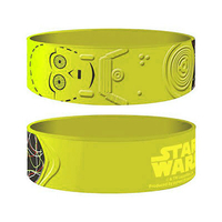 Bracelet Star Wars officiel C3PO en silicone