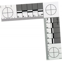 Regle de mesure pour photographier les indices utilisée par les Experts