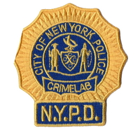 Ecusson de la police de New York NYPD Section police scientifique