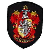 Ecusson brodé de l'école de Gryffondor vu dans Harry Potter