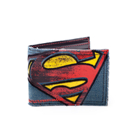 Portefeuille officiel logo Superman style vintage blue jeans