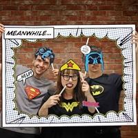Kit d'accessoires pour photos super héros de DC Comics kit fetes