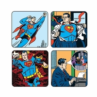 Pack officiel de 4 sous verres Superman