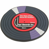 Sous verre en forme de disque  vinyl 45T accessoire geek